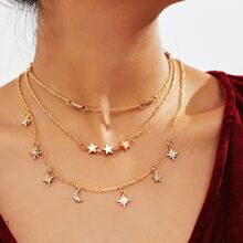 3pcs Star Charm Necklace