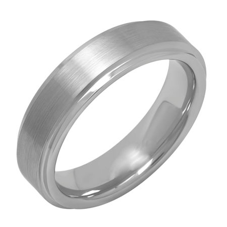 6MM Tungsten Wedding Band, 12 , No Color Family