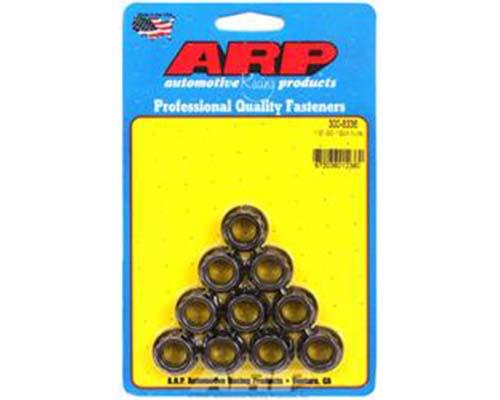 ARP 1/2-20 12PT Nut Kit 8740 Chrome Moly Black - 10 PK