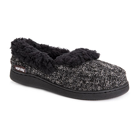 Muk Luks Anna Womens Moccasin Slippers, X-large , Black