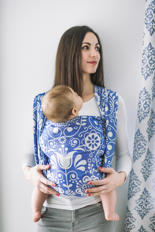Baby Wrap - Be Lenka Folk - Blue 4,6 m