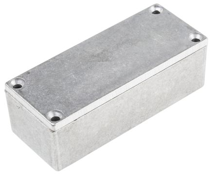 Hammond Shallow Lid - Thin Wall, Natural Die Cast Aluminium Enclosure, IP54, Shielded, 92 x 38 x 31mm