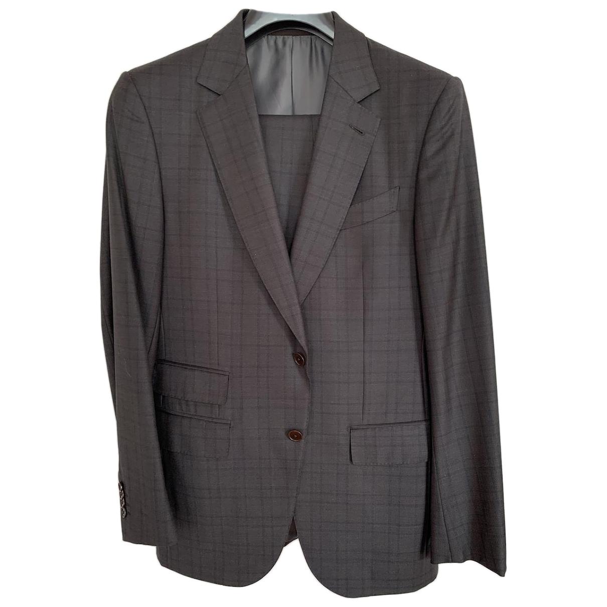 Ermenegildo Zegna \N Brown Wool Suits for Men 48 IT