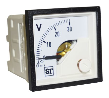 Sifam Tinsley DC Analogue Voltmeter, 30V, 45 x 45 mm,