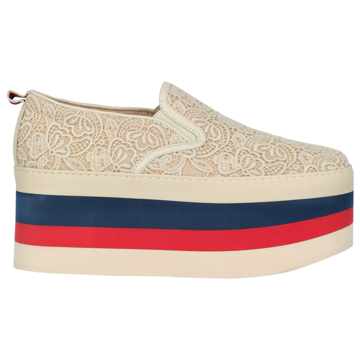 Gucci \N White Cloth Trainers for Women 38.5 IT
