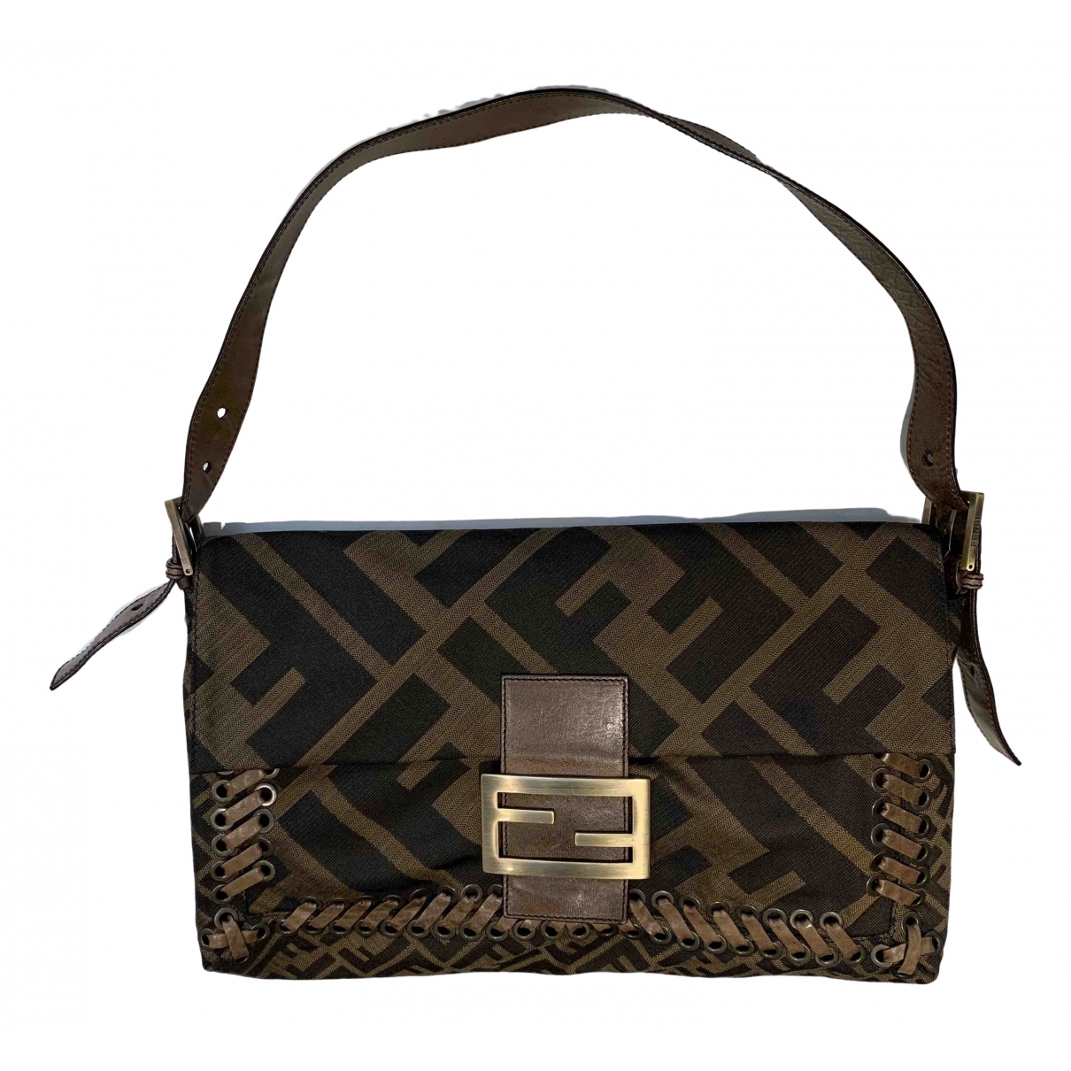 Fendi Baguette Brown Cloth handbag for Women \N