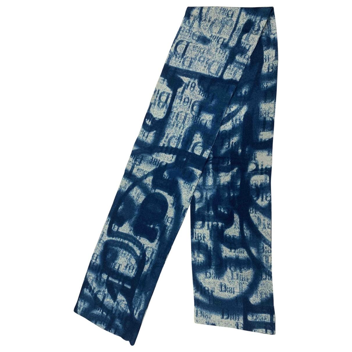 Dior \N Blue Wool scarf for Women \N