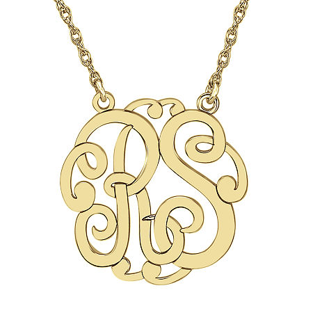 Personalized 25mm Monogram Necklace, One Size , Yellow