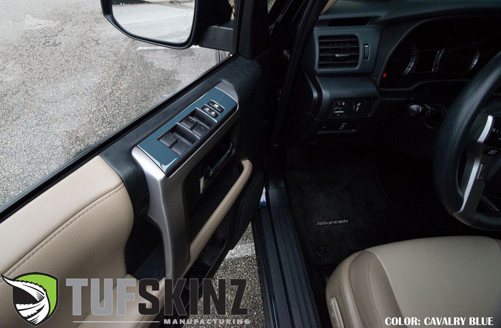 Tufskinz RUN018-CYB-G Side Door Control Accent Trim Fits 14-up Toyota 4Runner 4 Piece Kit Cavalry Blue