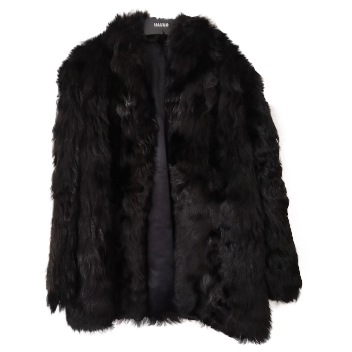 Non Signé / Unsigned Oversize Black Fur coat for Women 38 FR