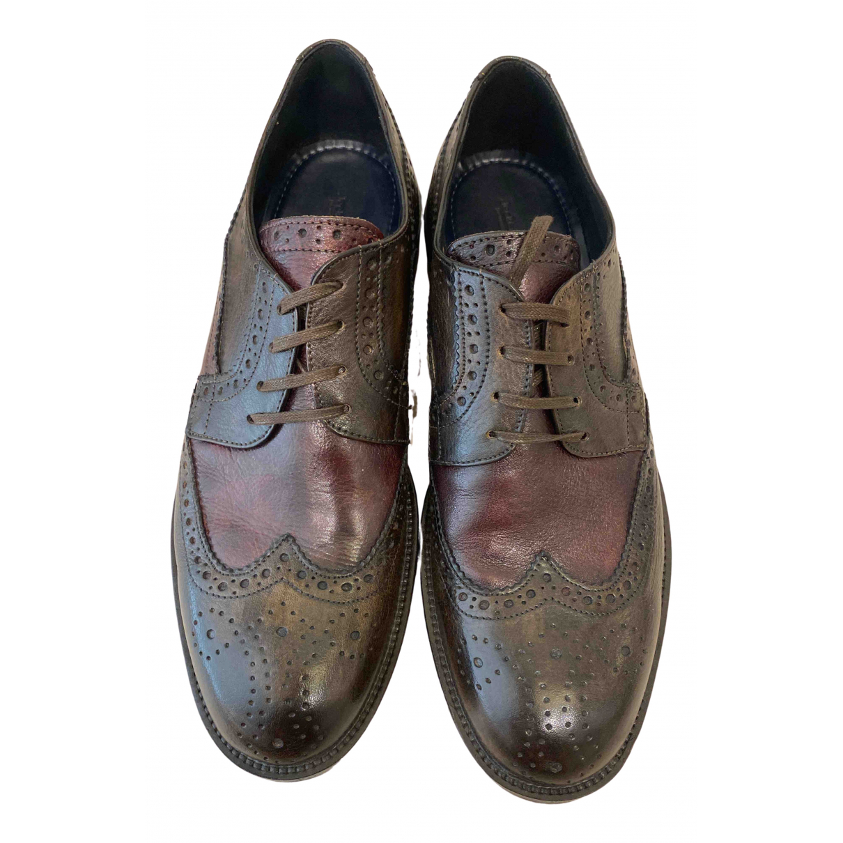 Non Signé / Unsigned \N Leather Lace ups for Men 42 EU