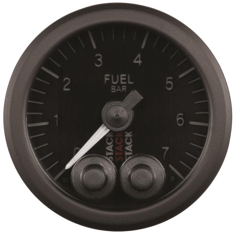 AutoMeter GAUGE; FUEL PRESS; PRO-CONTROL; 52MM; BLK; 0-7 BAR; M10 MALE