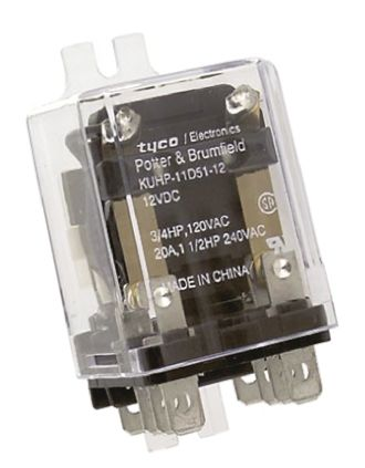 TE Connectivity , 12V dc Coil Non-Latching Relay DPDT, 20A Switching Current Panel Mount, 2 Pole