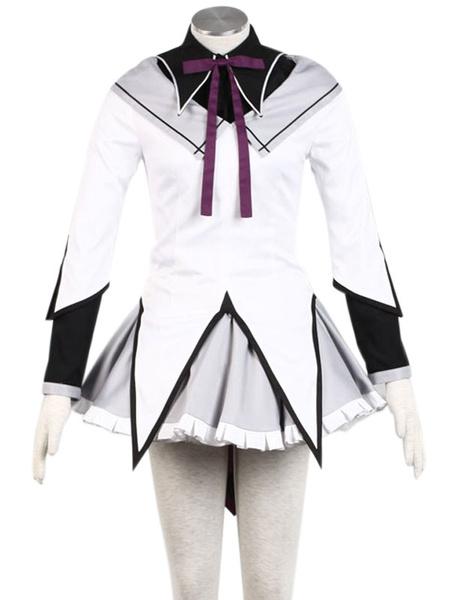 Milanoo Puella Magi Madoka Magica Akemi Homura Cosplay Costume Halloween