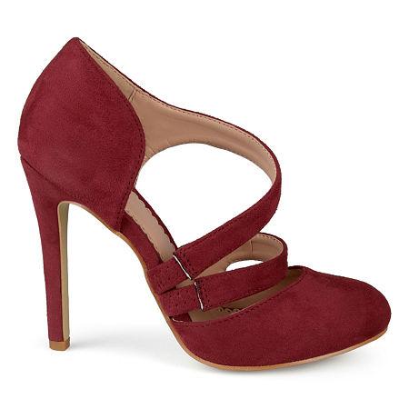 Journee Collection Womens Zeera Pumps Stiletto Heel, 8 1/2 Medium, Red