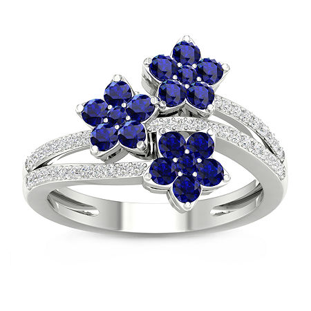 Womens 1/6 CT. T.W. Genuine Blue Sapphire 10K Gold Cocktail Ring, 6 1/2 , No Color Family