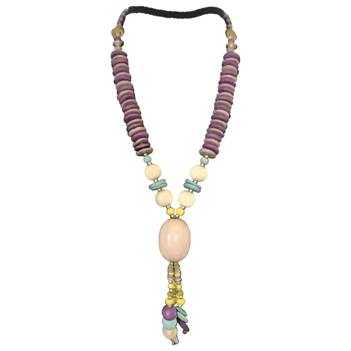 Non Sign?? / Unsigned Motifs Ethniques Purple Wood necklace for Women \N