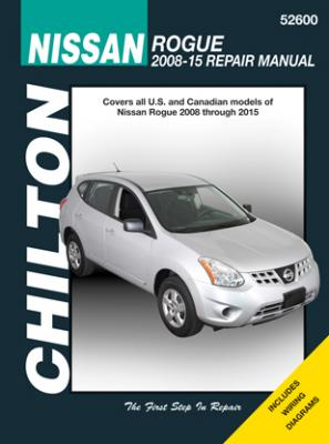 Nissan Chilton Repair Manual covering all Rogue models for 2008-15