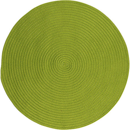Colonial Mills Nantucket Reversible Braided Indoor/Outdoor Round Rug, One Size , Green