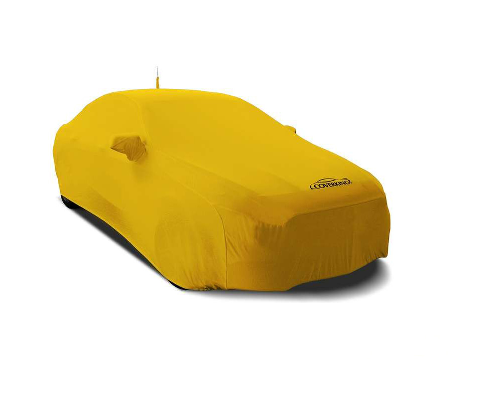 Coverking CVC7SS99NS9947 CVC7SS99 Satin Stretch Velocity Yellow Custom Car Cover Nissan Armada 17-20