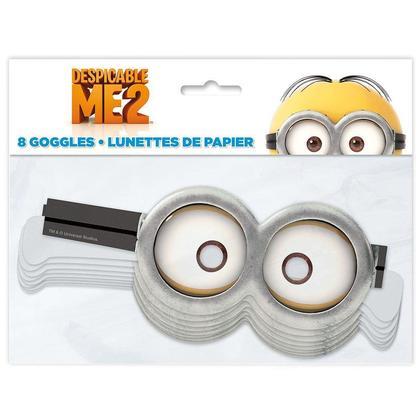 Despicable Me Minion Goggles Papier 8Pcs Pour la fête d'anniversaire