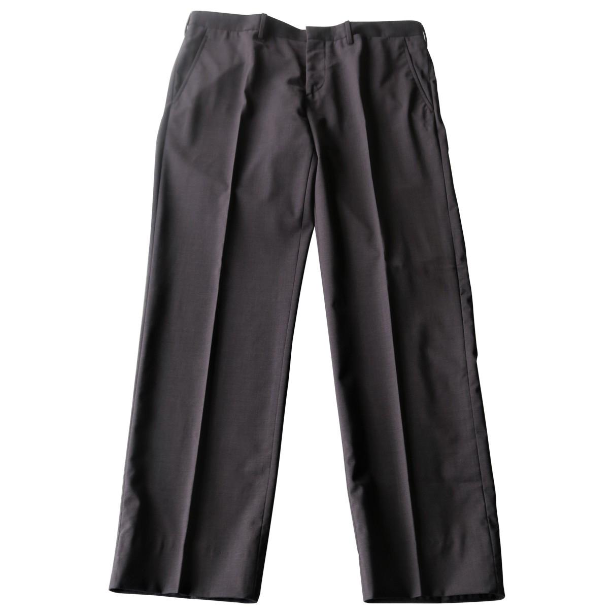 Prada \N Anthracite Wool Trousers for Men 50 IT