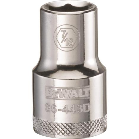 DeWalt 6 Point 1/2# Drive Socket 7/16#