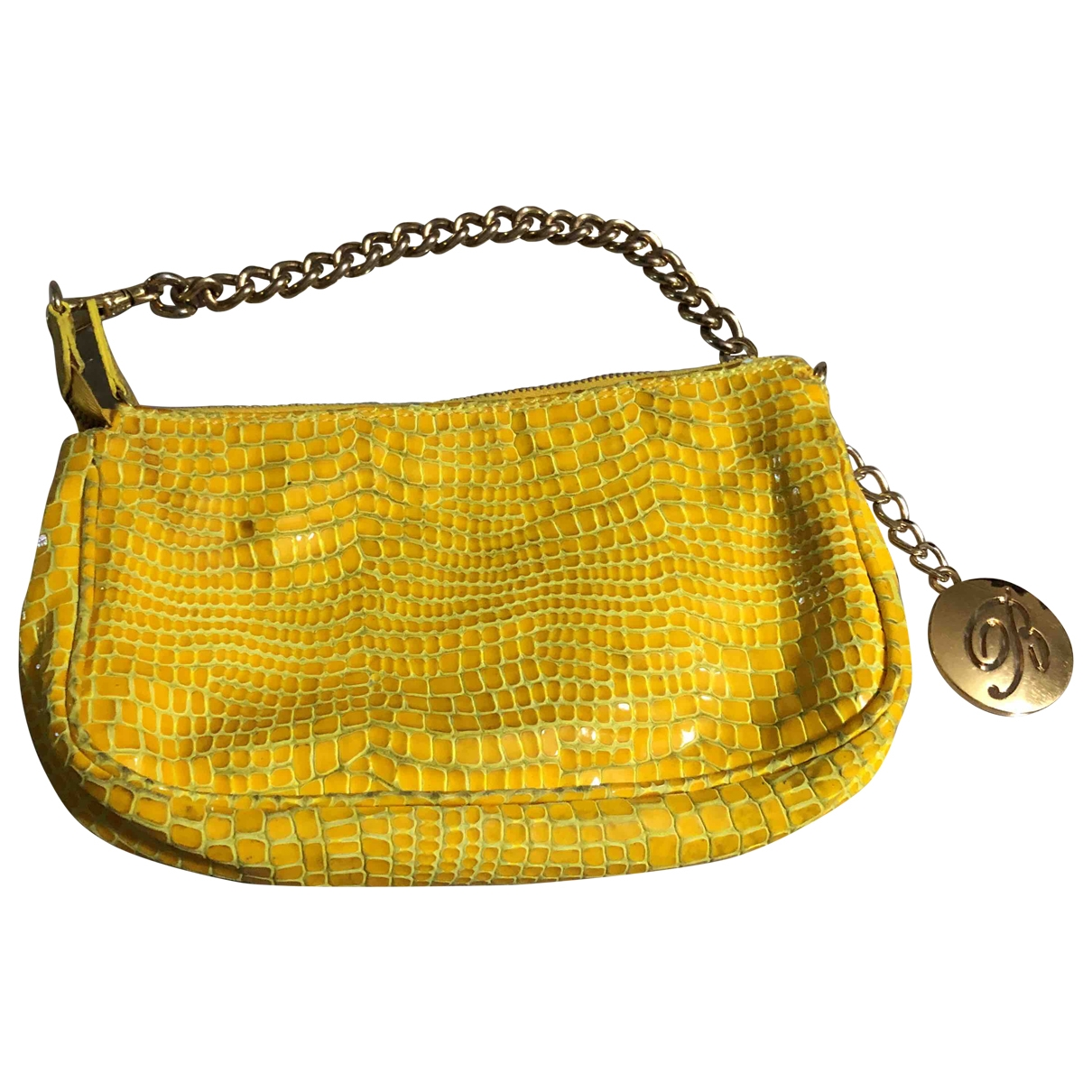 Blumarine \N Yellow Patent leather handbag for Women \N