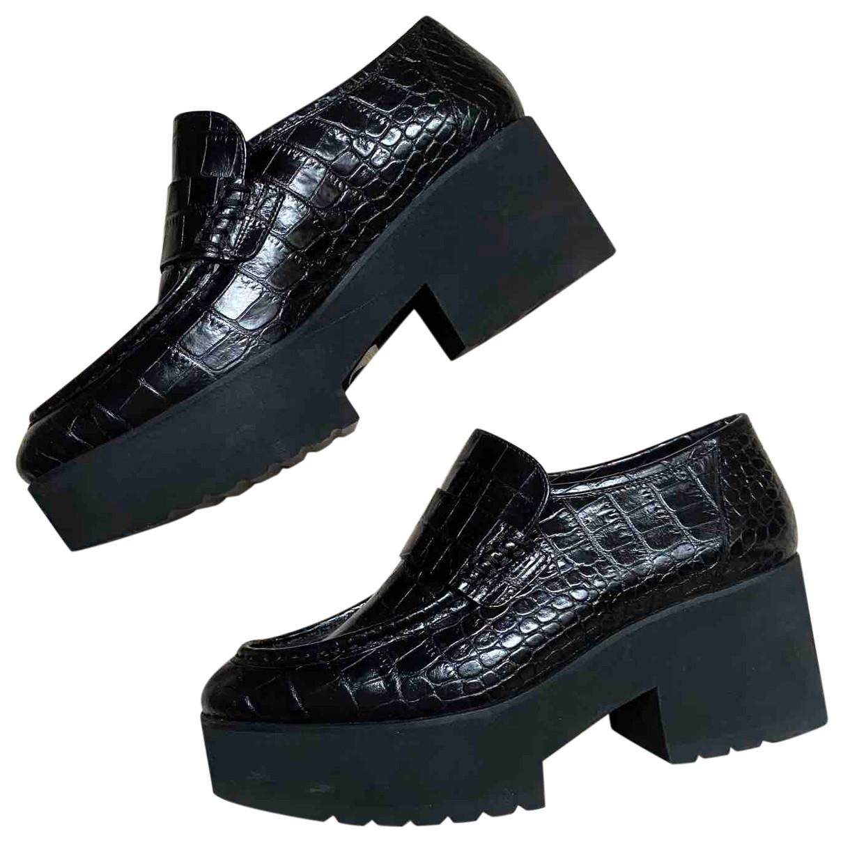 Maje \N Black Crocodile Heels for Women 39 EU