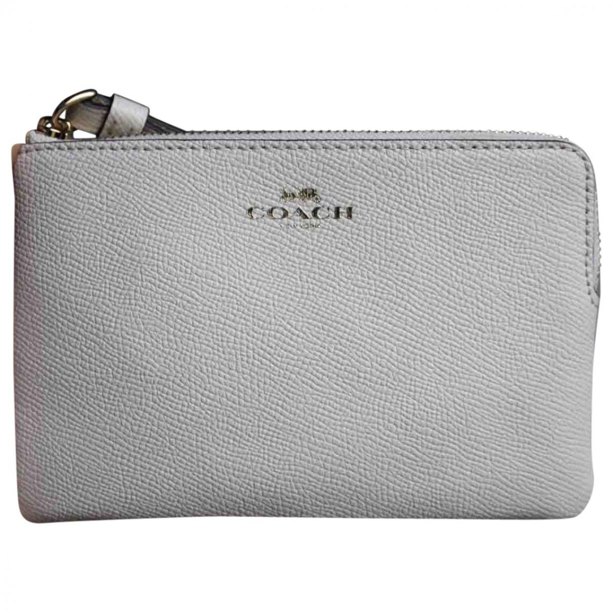 Coach \N Beige Leather wallet for Women \N