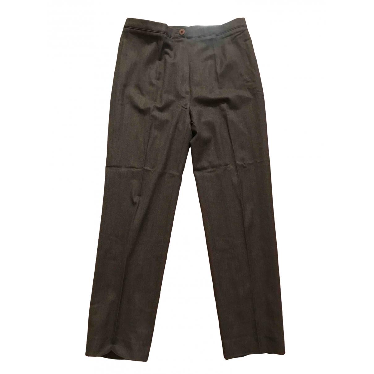 Incotex \N Grey Spandex Trousers for Women 44 IT