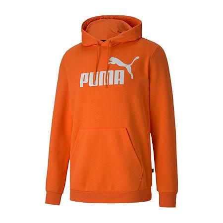 Puma-Big and Tall Mens Long Sleeve Hoodie, 4x-large , Orange
