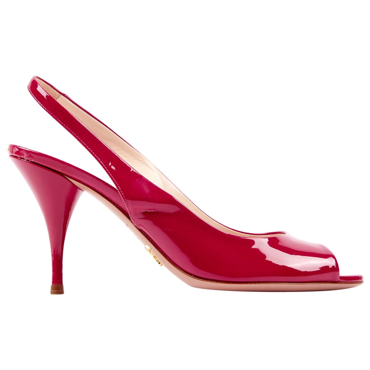 Prada \N Red Patent leather Heels for Women 37.5 EU