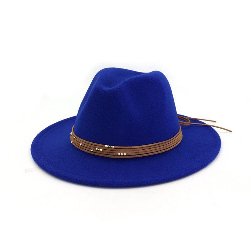Ericdress Plain Wool Blends Fedora Hat