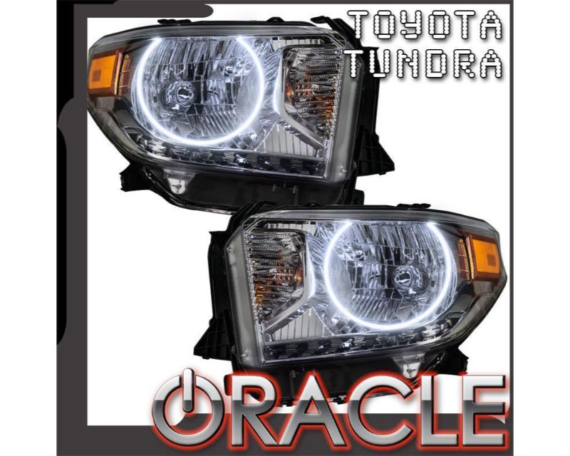 Oracle Lighting 7158-504 Pre-Assembled Headlights LED Halo Kit ColorSHIFT Simple Toyota Tundra 2014-2017