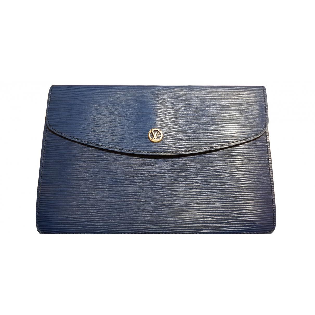 Louis Vuitton \N Blue Leather Clutch bag for Women \N