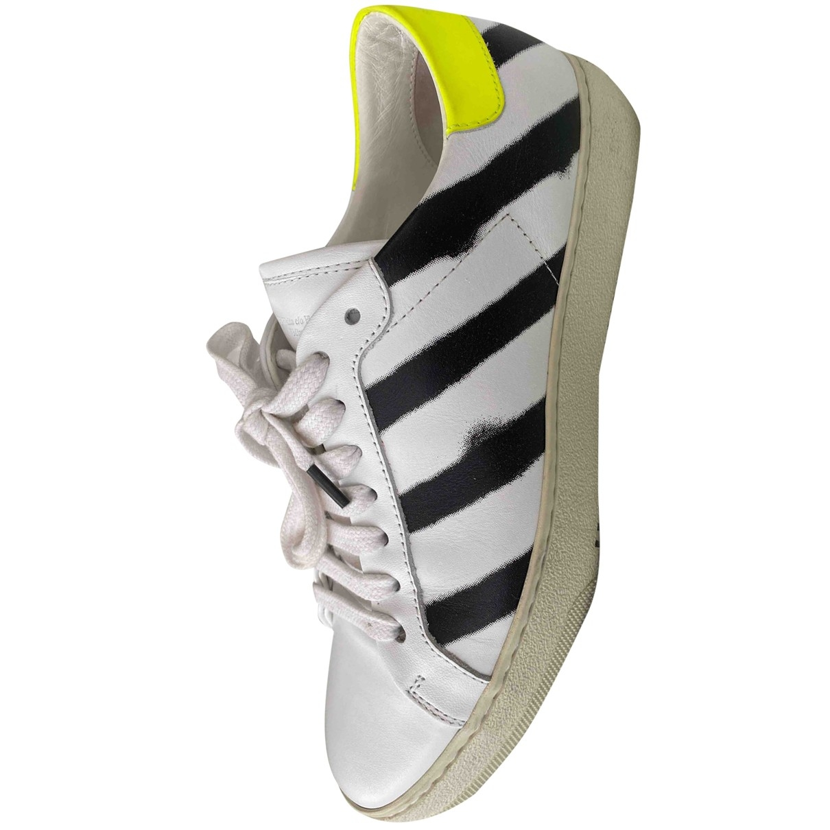 Off-white Diagonals White Leather Trainers for Women 37 IT