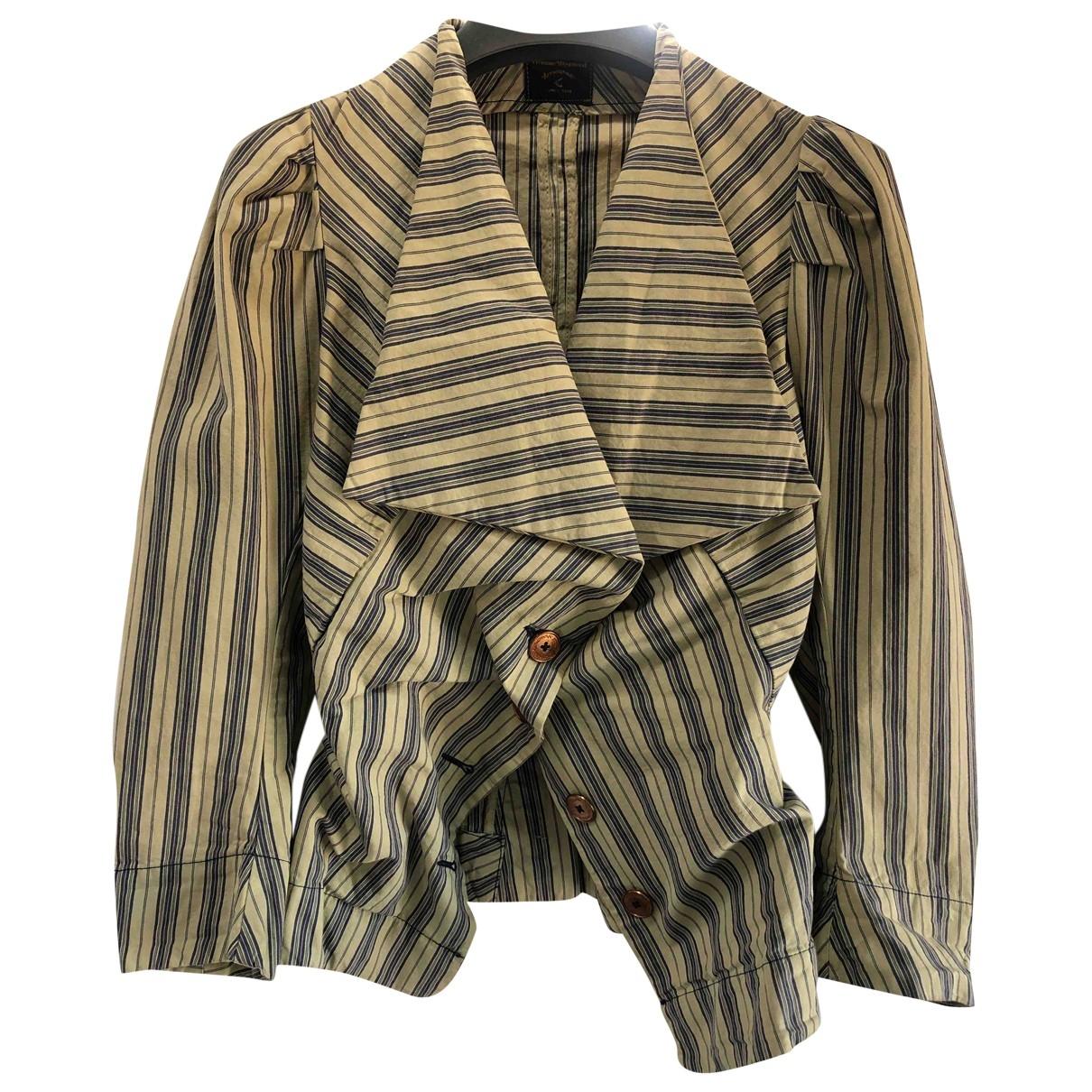 Vivienne Westwood Anglomania \N Ecru Cotton jacket for Women 42 IT