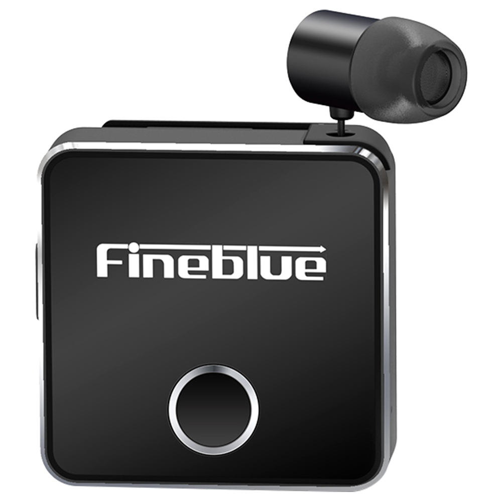 Fineblue F1 Clip-on Bluetooth 5.0 Earphones HD Sound with Vibrating Alert Multipoint Connection 150 Hours with Mic - Black