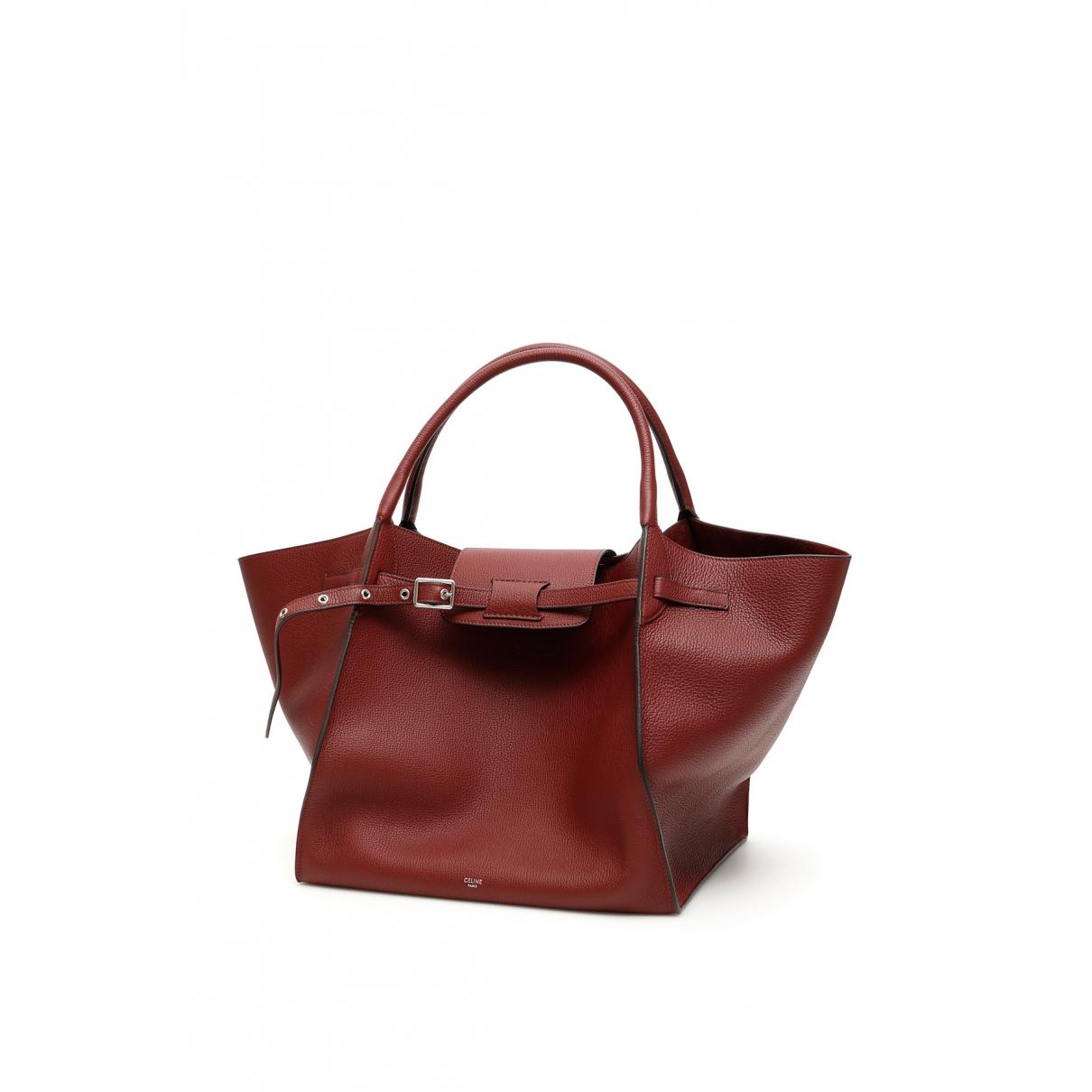Celine Big Bag Red Leather handbag for Women \N