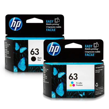 HP 63 F6U62AN F6U61AN Original Black and Tri-Color Ink Cartridge Combo