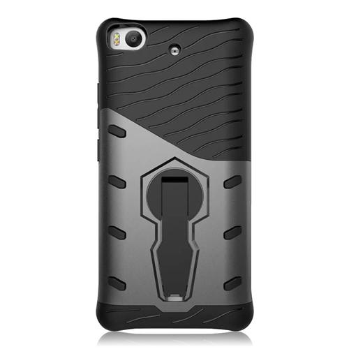 Armour Series Protective Phone Case 360 Degree Rotating Bracket Stand Cover For Xiaomi Mi 5S - Black