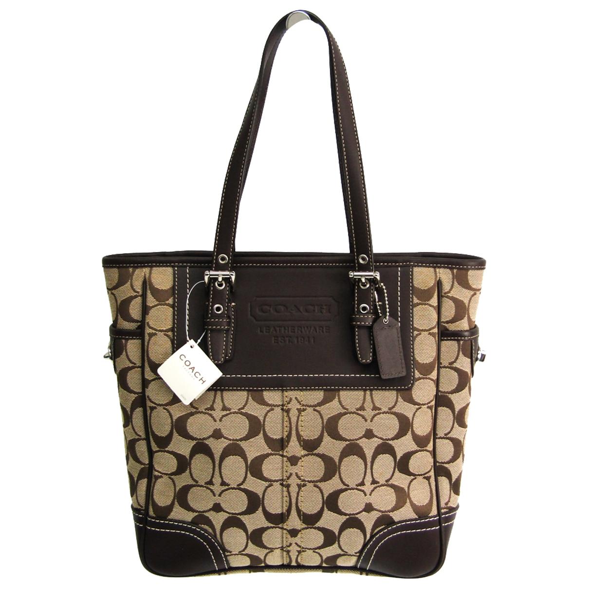 Coach Signature Sufflette Brown Cloth handbag for Women \N