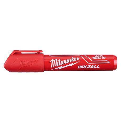 Milwaukee Inkzall™ Large Chisel Tip Red Marker