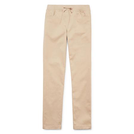 IZOD Little & Big Girls Skinny Pull-On Pants, 14.5 Plus , Beige