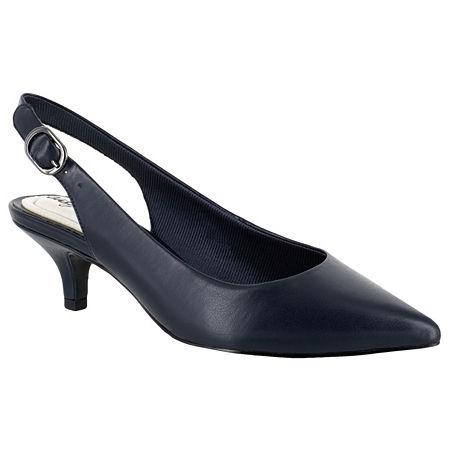 Easy Street Womens Faye Pumps Kitten Heel, 12 Medium, Blue