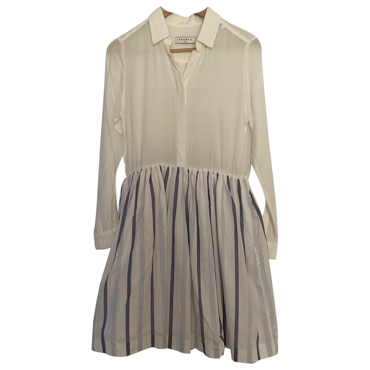 Sandro \N White dress for Women 38 FR