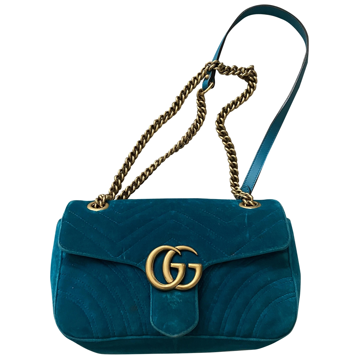Gucci Marmont Blue Velvet handbag for Women \N