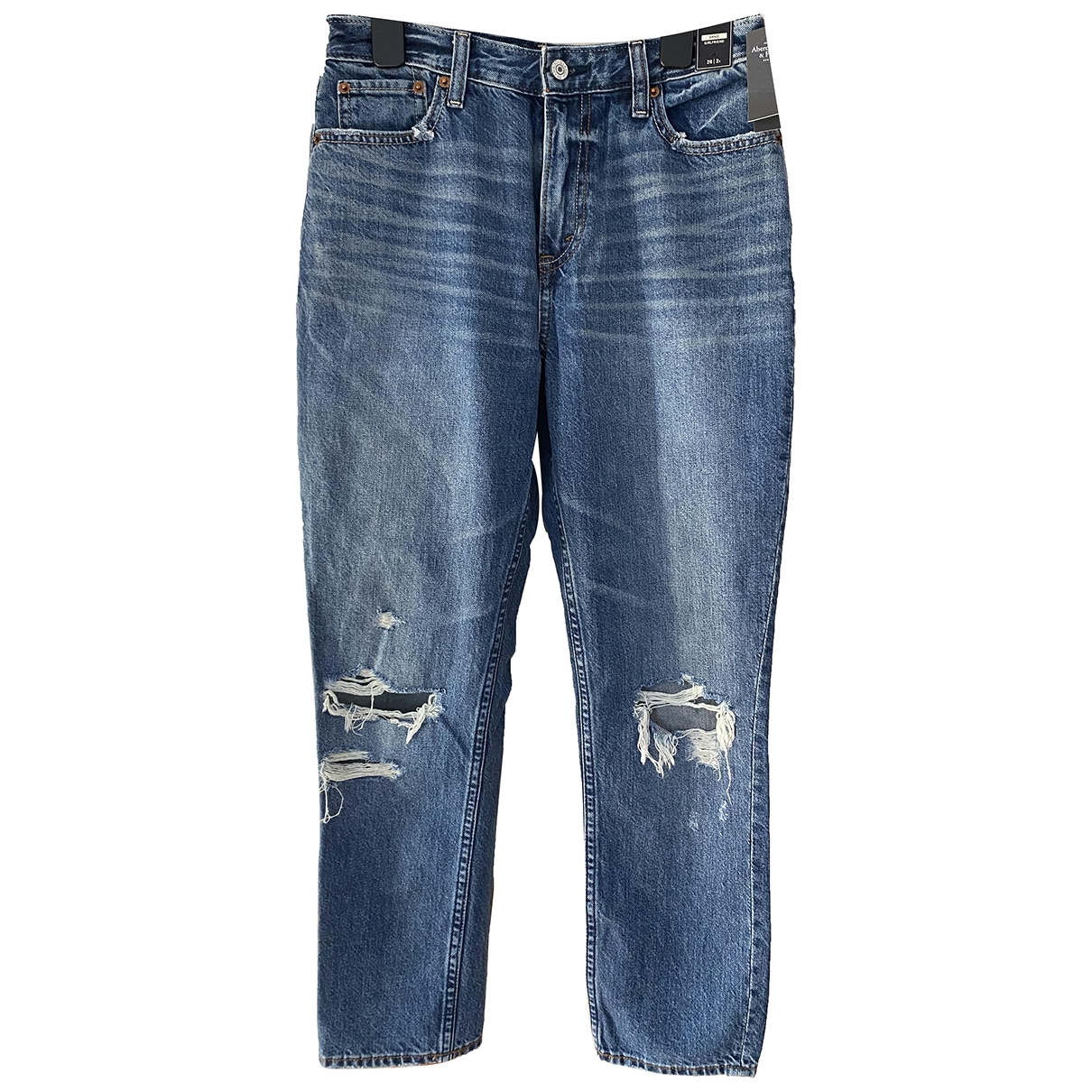 Abercrombie & Fitch \N Blue Cotton Jeans for Women 26 US