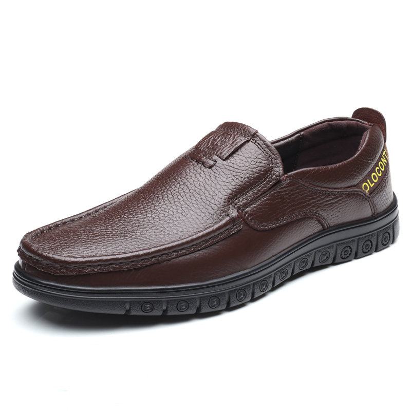 Men Genuine Cow Leather Super Comfy Soft Sole Slip On Casaul Loafers